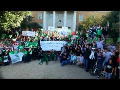 """President V. Lane Rawlins and the UNT Community dance and sing to Brave Combo's """"The Denton Polka."""""""