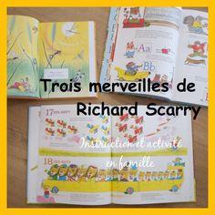 Livres éducatifs, Richard Scarry: le grand livre à compter de 1 à 100,  le grand livre de l'école et mon trésor d'histoires du soir: superbes living books