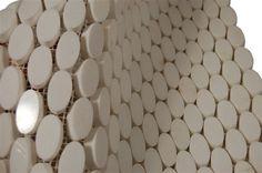 Oval accent tile (tub surround, shower floor, shower surround)