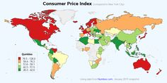 Map of Numbeo's price index data