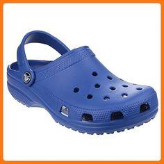 79ecda745cf91f Crocs Classic Womens Ladies Clogs (6 US) (Cerulean Blue) Blue Crocs