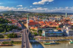 Bratislava Old town, Slovakia Colourful Buildings, Fairytale Castle, Being In The World, Old Town, San Francisco Skyline, Paris Skyline, Places To Go, Beautiful Places, Photography