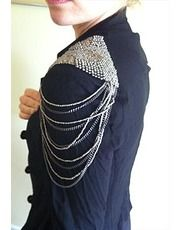 jackets with shoulder details | military jacket with metal chain shoulder details size 8 this product ...