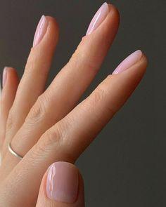 Lavender Nail Polish, Lavender Nails, Natural Nail Polish, Polygel Nails, Cute Nails, Pretty Nails, Stiletto Nails, Manicures, Short Nail Manicure