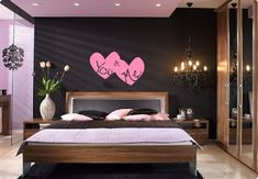 49 Awesome Valentine Decor Ideas For Couples - bedroom decoration - Bedroom Decor Room Decor For Teen Girls, Bedroom Decor For Couples, Decoration Bedroom, Small Room Decor, Couple Bedroom, Decoration Design, Bedroom Ideas, Beautiful Decoration, Wall Decorations