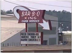 WEST CHARLOTTE: Featured on both Food Network TV Shows:  Diners, Drive-Ins & Dives with Guy Fieri (airdate: May 28, 2007) The Best Thing I Have Ever Ate (airdate: September 12, 2011): Bar-B-Q King has been #CLTBBQ treasure since 1959. #BBQ