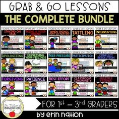 When you need a lesson on a classroom behavior issue or concern, these will be the ones you can grab and go to! Includes a no-print PowerPoint to present to a classroom. Elementary School Counselor, Elementary Schools, Classroom Behavior, Classroom Management, Counseling Activities, Peer Pressure, Guidance Lessons, Classroom Community