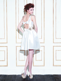 GAGE / Blue Collection / Enzoani / Available Colours : Ivory/Gold/Antique Gold, Ivory/Ivory/Silver, White/White/Silver (back)