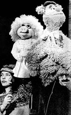 Annie Sue with Louise Gold, Fozzie Bear with Frank Oz.