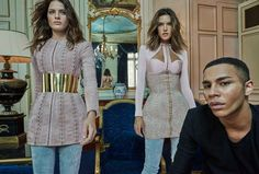 Alessandra Ambrosio and Isabeli Fontana Dazzle in Balmain for Vogue Brazil