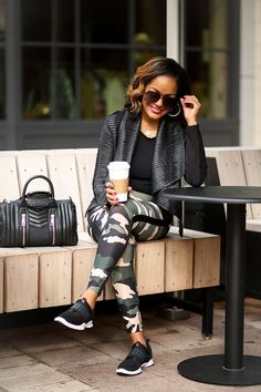 Athleisure Wear: A Stylish Mom On The Go Best Friend! - athleisure, stylish athleisure outfit, mommy style, mom on the go outfits, forever 21 camo leggings - Swag Outfits, Retro Outfits, Mode Outfits, Cute Casual Outfits, Stylish Outfits, Girly Outfits, Vintage Outfits, Winter Fashion Outfits, Fall Outfits