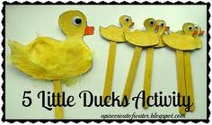 5 little ducks craft.