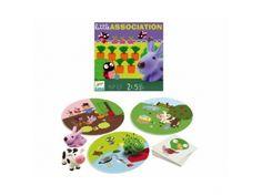 ATITIKIMO žaidimas Mažytės asociacijos, 2,5-5 metų vaikams DJECO (DJ08553)