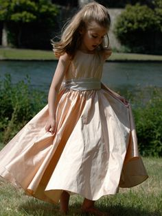 """love this.. and the hair is very """"casual"""" but does not under dress the wedding...  perfect for little girls"""