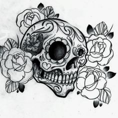 I'm obsessed with sugar skulls and I want this design tattooed on my skin.