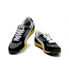 Puma Usain Bolt Yellow Black White Men Running Shoes