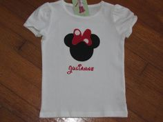 Personalized Minnie Mouse Bow Tshirt by MeggieBaby on Etsy