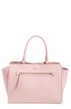 nice kate spade new york 'north court - anton' pebbled leather satchel (Nordstrom Exclusive) Handbags On Sale, Luxury Handbags, Purses And Handbags, Pink Handbags, Designer Handbags, Luxury Purses, Cute Handbags, Designer Purses, Satchel Handbags