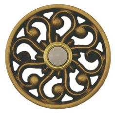 Waterwood Hardware Decorative Veda Doorbell-Antique Brass from Cabinet Knobs and More
