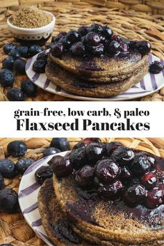 These simple low carb and paleo Flaxseed Meal Pancakes are the perfect grain-free alternative to traditional pancakes.