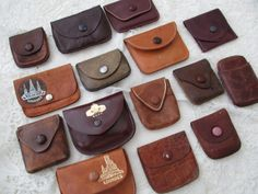 Leather rosary bag x 15 by Nkempantiques on Etsy