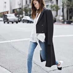 Autumn and winter turn-down collar full sleeves single breasted short front back long wool jacket female coat 140.00 CAD Coats For Women, Jackets For Women, Clothes For Women, Casual Wear Women, Light Wash Skinny Jeans, Outerwear Women, Double Breasted, Single Breasted, Jeans Style