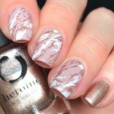 25 christmas nail colors xmas nails for new years 2 Cute Nail Art Designs, Christmas Nail Art Designs, Short Nail Designs, Purple Nail, Pink Nails, Rose Nail Art, Rose Gold Nails, Gel Nails At Home, New Year's Nails