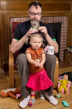 Dave Engledow et sa fille Alice Bee
