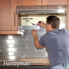 Stainless Steel Kitchen Backsplash  A simple kitchen backsplash you can install in one day