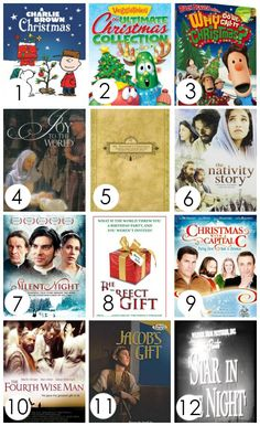 Christ-Centered Christmas Movies- Watch one for each of the 12 Days of Christmas