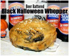 ~Beer Battered Black Halloween WHOPPER!  #BurgerKing #BlackWhopper