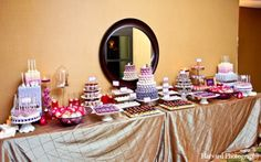 The reception features a delicious spread of wedding cakes, wedding cupcakes, and wedding cake pops.