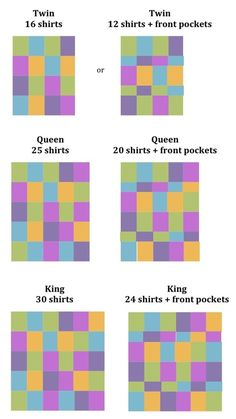 T-Shirt Quilts. Good to know