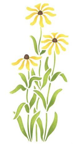Black-eyed Susans Flower | Designer Stencils