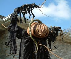 Spooky Blue - Halloween Projects - Scarecrow - Terror on a stick