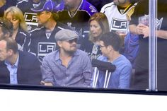 Leonardo DiCaprio and Kevin Connolly attend an NHL playoff game between the San Jose Sharks and the Los Angeles Kings at Staples Center on April 28, 2014 in Los Angeles. Check out other Celebs Spotted at Staples Center! http://celebhotspots.com/hotspot/?hotspotid=6465&next=1