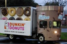 The Other Dunkin' Donuts Coffee Truck Coffee Delivery, Coffee Table Legs, Best Coffee Maker, Coffee Truck, Truck Design, Dunkin Donuts Coffee, Weekend Fun, Traveling By Yourself, 3 D
