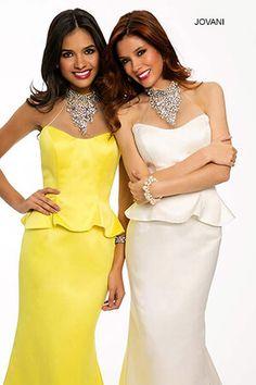 Elegant Ivory Floral Prom Dress 2015 Dresses Pinterest