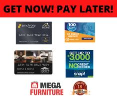 We have severed our local communities for 18 Years and want to celebrate with you! We accept ALL forms of credit!! BAD CREDIT, NO CREDIT, WE ACCEPT EVERYONE!! SHOP NOW AND PAY LATER!! For more information on our financing options, feel free to visit us online or in store today!! Mega Furniture, Home Financing, Finance, Card Holder, How To Apply, Feelings, Store, Free, Rolodex