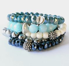 "French blue faceted rondelle crystal beads {have the first color | need silver ""corn flake spacers}"