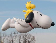 Snoopy and Woodstock Balloon via @Macys Thanksgiving Day Parade