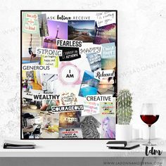 Vision Board (Life Map) - Purchase this template vision board A2 poster with pages of words and how to instructions Vision board | Template | Manifest | Law of Attraction