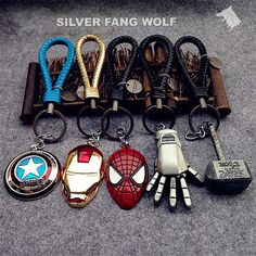 Marvel Keychain Set -  Zinc Alloy, Stainless Steel