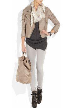 Alexander McQueen - Suede and brass wrap bracelet Victoria Beckham Jeans, Autumn Winter Fashion, Winter Style, Urban Looks, Purple Suede, Grey Leggings, Top Designer Brands, London Fashion, Ladies Fashion