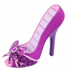 Summer Bliss Peep Toe Shoe Ring Holder Purple - JGS28212PP