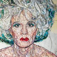 Stone Mosaic, Mosaic Glass, Mosaic Tiles, Stained Glass, Mosaic Portrait, Mosaic Artwork, Mosaic Madness, Portraits, Interesting Faces