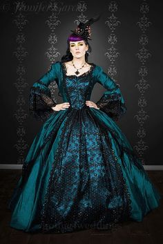 gothic steampunk marie antoinette wedding dress