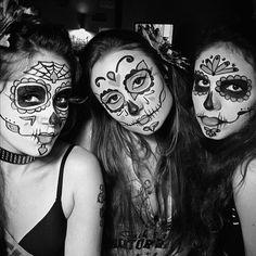 Cíntia Tchy, Alexandra Spallicci, Bia Tabosa - Mexican Skull Makeup by Marília Martins - Maquiagem de Caveira Mexicana - Foto por Cesinha  http://www.alexandraspallicci.com.br/?p=2221