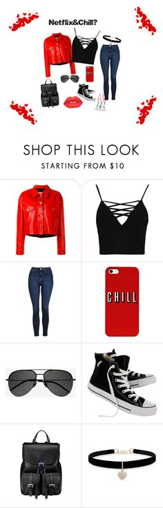 """Netflix inspired"" by jessicaamy2002 ❤ liked on Polyvore featuring Golden Goose, Boohoo, Topshop, Yves Saint Laurent, Converse, Aspinal of London, Betsey Johnson and Lime Crime"