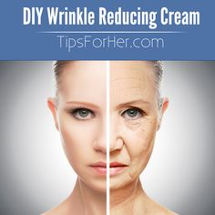 DIY Wrinkle Reducing Cream - Amazing results, really inexpensive and will make you want get rid of those store bought products.